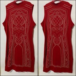 SAY WHAT Brand Red Sleeveless Dress Sz M